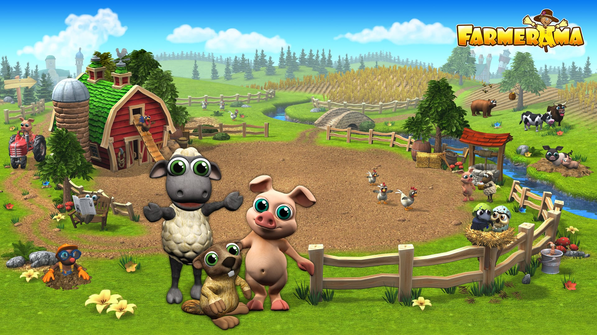 комнатный картинки животных с игры моя ферма перспективно