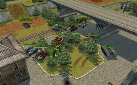 Танковая битва у моста