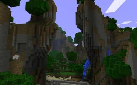Вот выглядит игровой мир в Майнкрафте