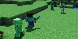Игра в Minecraft против мобов