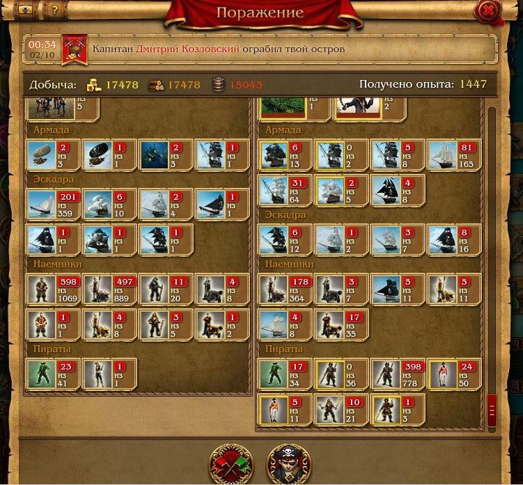 Цели в игре кодекс пирата