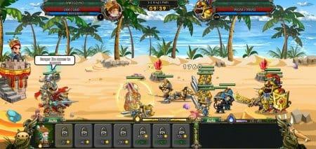 Сражения в игре происходят в полуавтоматическом режиме