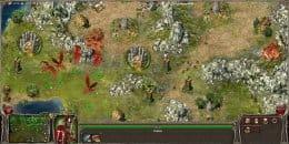 Сражение игрока против драконов.