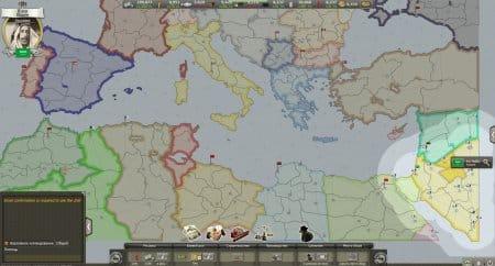 Начало игры, глобальная карта