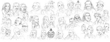Автопортреты встречаемых персонажей