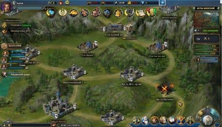 Часть карты мира игры